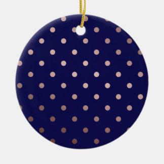 Ornamento De Cerâmica bolinhas cor-de-rosa do azul do ouro do falso