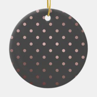 Ornamento De Cerâmica bolinhas cor-de-rosa do cinza do ouro do falso