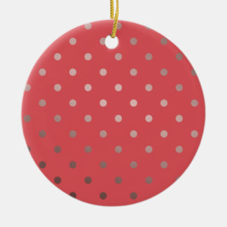 Ornamento De Cerâmica bolinhas cor-de-rosa do vermelho do ouro do falso