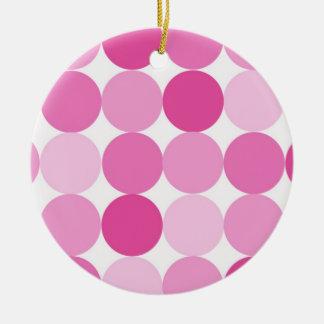 Ornamento De Cerâmica Bolinhas cor-de-rosa elegantes femininos bonitos