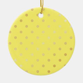 Ornamento De Cerâmica bolinhas elegantes do amarelo do ouro do falso