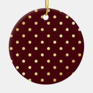 Ornamento De Cerâmica bolinhas elegantes do marrom do ouro do falso