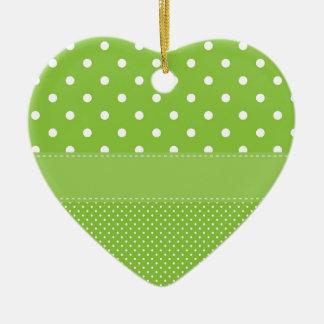 Ornamento De Cerâmica bolinhas no verde
