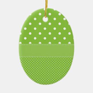 Ornamento De Cerâmica Bolinhas verdes