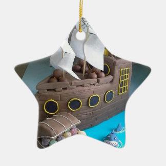 Ornamento De Cerâmica Bolo 1 do navio