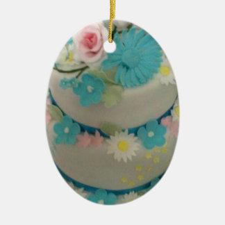 Ornamento De Cerâmica Bolo de aniversário 1