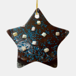 Ornamento De Cerâmica Bolo de chocolate