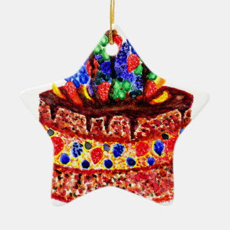 Ornamento De Cerâmica Bolo de chocolate 2