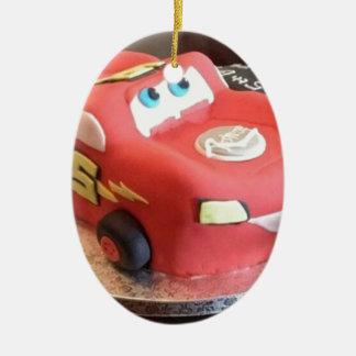 Ornamento De Cerâmica Bolo do carro de McQueen
