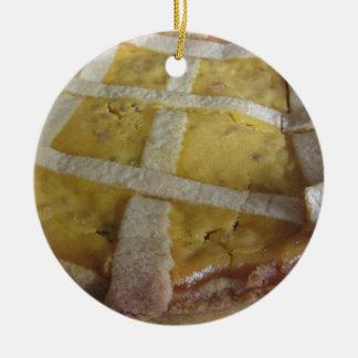 Ornamento De Cerâmica Bolo italiano tradicional Pastiera Napoletana