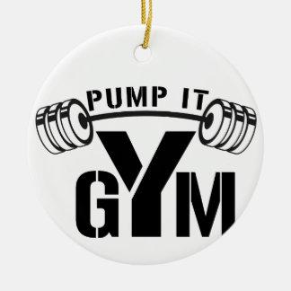 Ornamento De Cerâmica bombeie-o gym