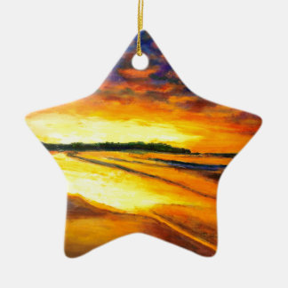 Ornamento De Cerâmica Bondi no crepúsculo