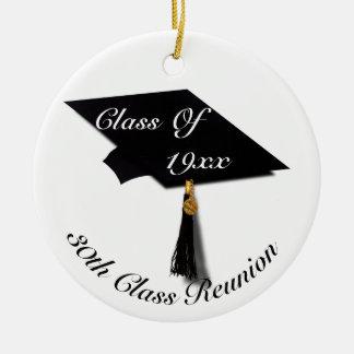 Ornamento De Cerâmica Boné de formatura & diploma - reunião de segundo