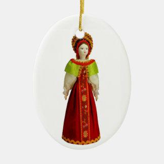 Ornamento De Cerâmica Boneca do russo