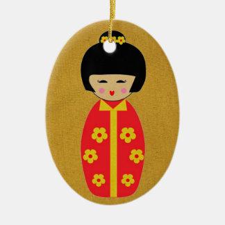 Ornamento De Cerâmica Bonecas asiáticas