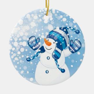 Ornamento De Cerâmica Boneco de neve