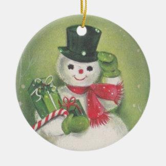 Ornamento De Cerâmica Boneco de neve amigável
