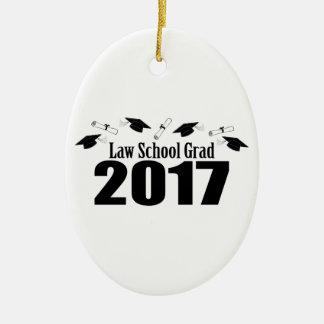 Ornamento De Cerâmica Bonés do formando 2017 da escola de direito e