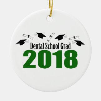 Ornamento De Cerâmica Bonés do formando 2018 da escola dental e diplomas