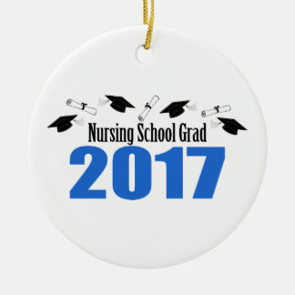 Ornamento De Cerâmica Bonés e diplomas do formando 2017 da escola de