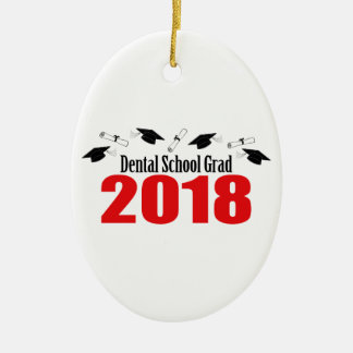 Ornamento De Cerâmica Bonés e diplomas do formando 2018 da escola dental