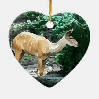 Ornamento De Cerâmica Bongos do safari