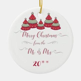 Ornamento De Cerâmica Bonito nosso primeiro Natal Ornament junto