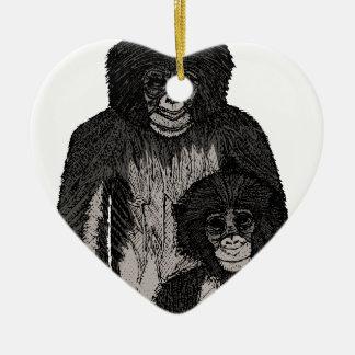 Ornamento De Cerâmica Bonobo