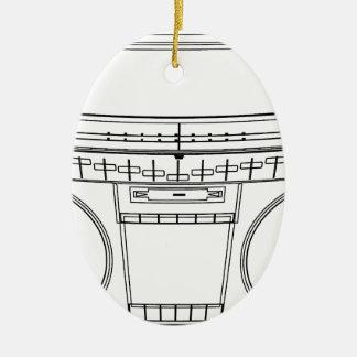 Ornamento De Cerâmica boombox