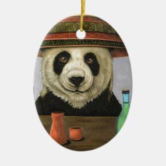 Ornamento De Cerâmica Boozer 4 com panda