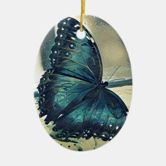 Ornamento De Cerâmica Borboleta azul
