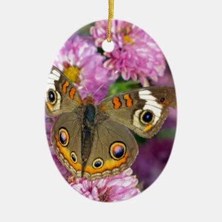 Ornamento De Cerâmica Borboleta comum do Buckeye