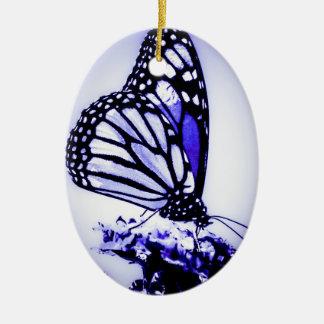 Ornamento De Cerâmica Borboleta de monarca, azul -
