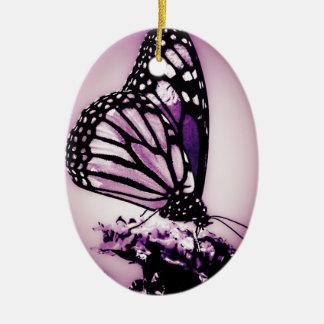 Ornamento De Cerâmica Borboleta de monarca, roxo -