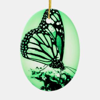 Ornamento De Cerâmica Borboleta de monarca, verde
