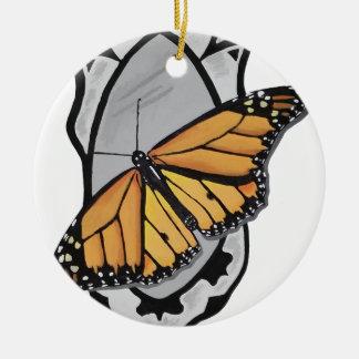 Ornamento De Cerâmica Borboleta do espelho