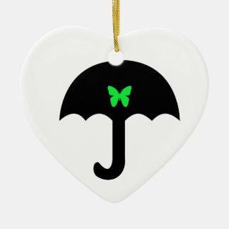 Ornamento De Cerâmica Borboleta no guarda-chuva