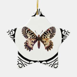 Ornamento De Cerâmica borboleta rodeado manchada