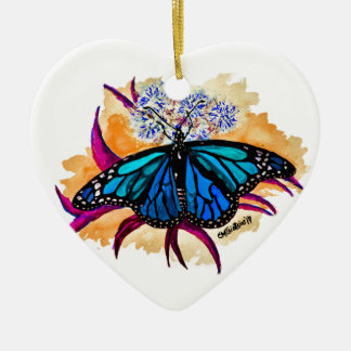 Ornamento De Cerâmica Borboletas de monarca