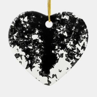Ornamento De Cerâmica borboletas pretas do yaie