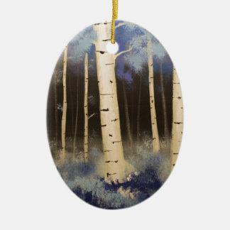 Ornamento De Cerâmica Bosque de Aspen