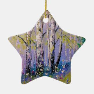 Ornamento De Cerâmica Bosque do vidoeiro