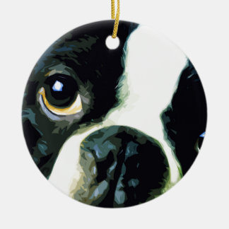 Ornamento De Cerâmica Boston grande moderna Terrier