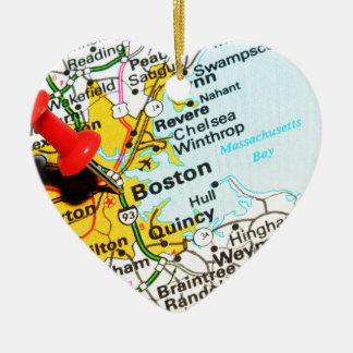 Ornamento De Cerâmica Boston, Massachusetts