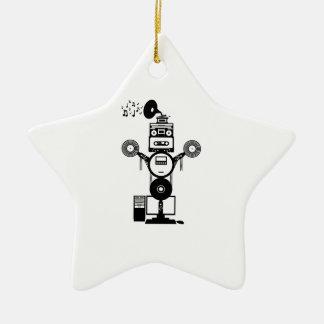 Ornamento De Cerâmica Bot da música