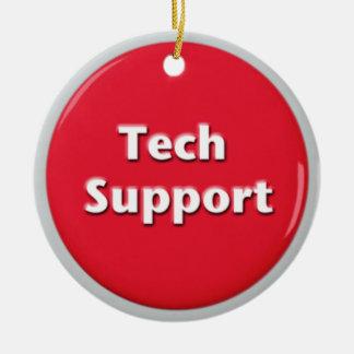 Ornamento De Cerâmica Botão de pânico vermelho do suporte técnico