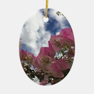 Ornamento De Cerâmica Bougainvillea cor-de-rosa