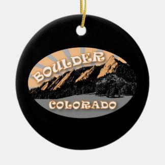 Ornamento De Cerâmica Boulder personalizado Colorado, o Flatirons