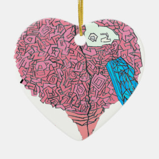 Ornamento De Cerâmica Brainy