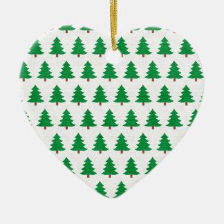 Ornamento De Cerâmica branco novo do verde do design do Natal